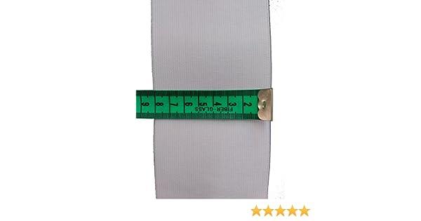 3 metros de goma muy ancha de 8cm y muy resistente de la marca COSE en color negro.