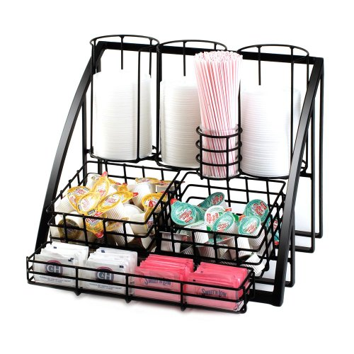"""Cal-Mil 1715-13 Mission Condiment Organizer, 15"""" W x 14"""" D x 12"""" H, Black from Cal Mil"""