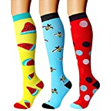 CHARMKING Compression Socks (3 Pairs) 15-20 mmHg is