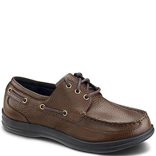 Apex A1100M Men's Comfort Boat Shoe: Brown 11.5 Medium (C-D) Lace