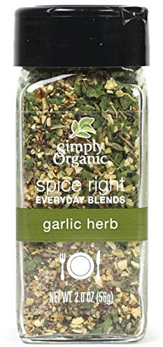Simply Organic Spice Right Everyday Seasoning Blends, Garlic & Herb, 2 Ounce ()