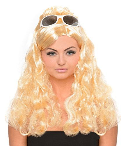 Beehive Wig Blonde (Blonde Bouffant Wig - 60s Style Housewife Wig with Beehive Poof)