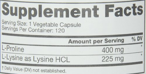 Roex L Lysine Nutritional Supplement, 120 Count