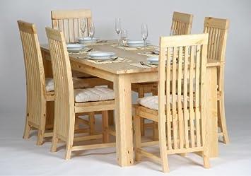 Esszimmer Garnitur Essgruppe Sabana 7 Tlg 6 Stühle Vollholz Pinie