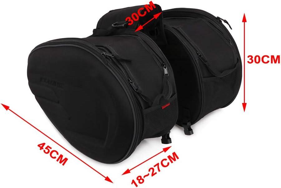 AnXin Moto Bagagli Selle Borse Borse Moto Borse Da Viaggio Impermeabile 36L-58L Capacit/à Espandibile Per HONDA Suzuki K.T.M Yamaha Viaggi Lunghi