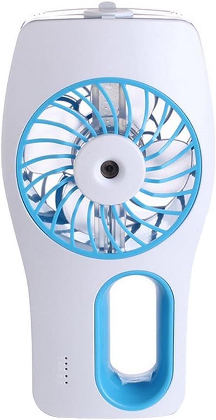 Bleu Alxcio Mini Ventilateur USB Humidificateur de Poche Silencieux Puissant Portable Breeze Refroidissement pour Voiture Bureau PC voyage Camping Pique-nique Int/érieur Ext/érieur Rechargeable Styl 1