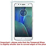 Dashmesh Shopping Tempered Glass Screen Protector For Motorola Moto G5S (5.2 Inch) - Slightly Smaller Due To Curve Edges