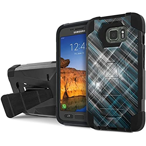 AT&T [Galaxy S7 Active] Armor Case [NakedShield] [Black/Black] Tough ShockProof [Kickstand] Phone Case - [Light Sales