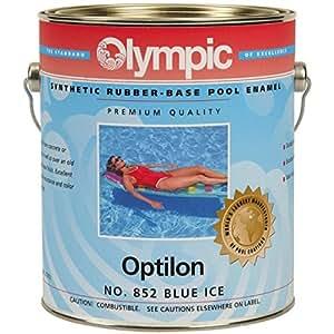 Pintura de goma sintética para piscina, color azul hielo de Optilon
