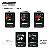 Tom\'sline Engineering Pedal Tuner AT07 Chromatic for Guitar (6-7 strings) and Bass (4-6 strings) High Definition Color Screen Pitch 430-450Hz 4 Flat Options True Bypass Nano Size