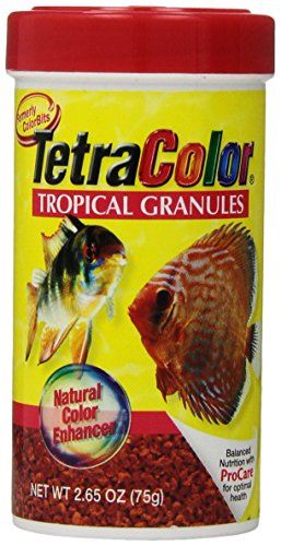 TetraColor Tropical Granules with Natural Color Enhancer, 2.65-Ounce