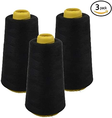 4 Pack of 6000 Yards 4 x 6000 Yards Red Serger Sewing Thread All Purpose Polyester Spools overlock Cone 24000 Total