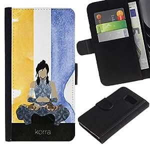 NEECELL GIFT forCITY // Billetera de cuero Caso Cubierta de protección Carcasa / Leather Wallet Case for Sony Xperia Z3 Compact // Korra póster