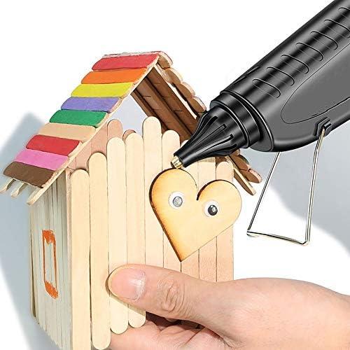 Minmin ホットメルト接着剤銃-50W、ツールミニ接着剤銃、手動接着剤銃+ 90溶融接着剤スティック、急速加熱 - DIYの工芸品、小物、家庭用クイック修理に最適 ミニ