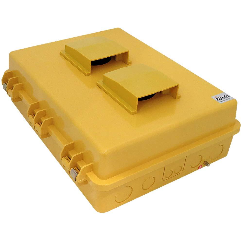 Altelix Vented Yellow NEMA Enclosure (14'' x 9'' x 4.5'' Inside Space) Polycarbonate + ABS Tamper Resistant Weatherproof by Altelix (Image #4)