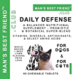 Daily Defense - Probiotic & Botanical Super-Blend with Vitamins, Minerals, Antioxidants, and Select Amino Acids - for Dogs and for Cats - A Balanced Nutritional Supplement - from Mans Best Friend Club