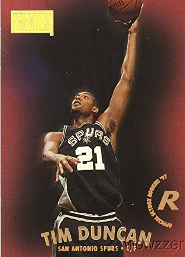 Tim Duncan 1997 Skybox Premium # 112 ROOKIE Card! San Antonio Spurs FIVE TIME(5X) NBA Champion and Future Hall Of Famer ! Shipped in Ultra Pro Snap Card Holder to Protect it!