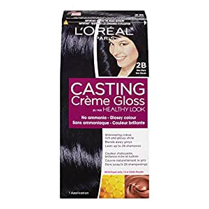 L'Oreal Healthy Look Creme Gloss Hair Color, 2B Blue Black