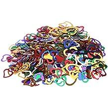 Confetti-Table Confetti-Heart Confetti-Glitter Confetti for Arts and Crafts Valentine's Day Wedding Decorative Party Decoration Supplies-Multi-Color-550pcs