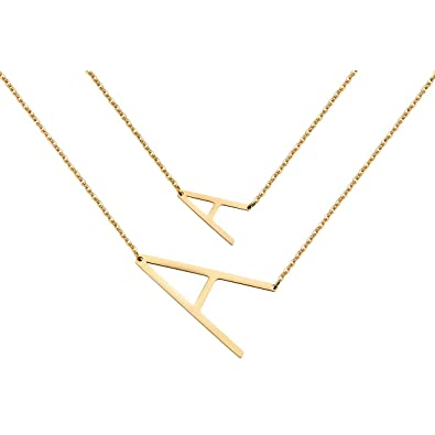 Amazon.com: Zealmer - Collar con colgante de letra inicial ...