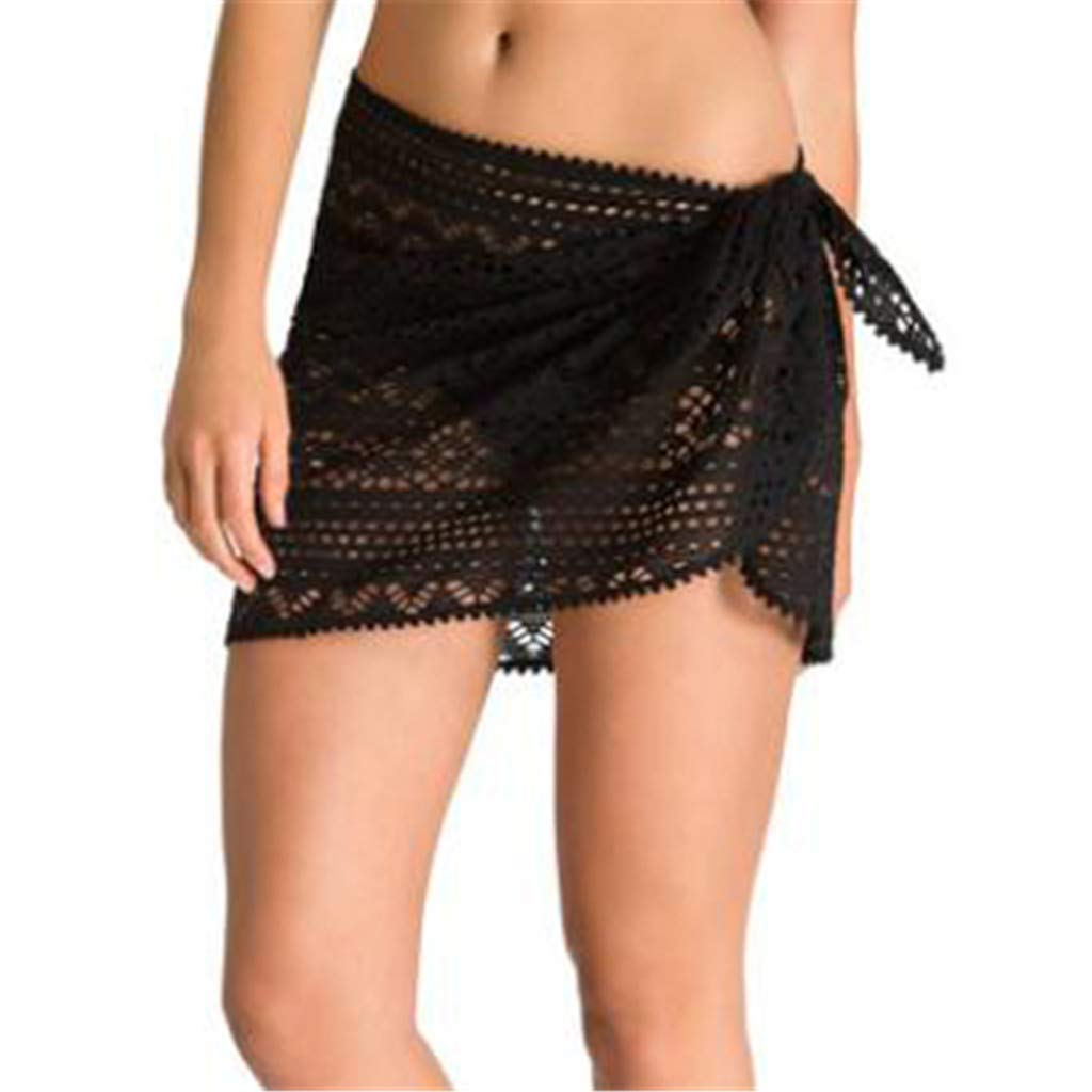 Women Beach Short Skirt Bikini, Ladies Seaside Lace Shorts Skirt Monokini Swimwear Holiday Bottoms Swim Trousers