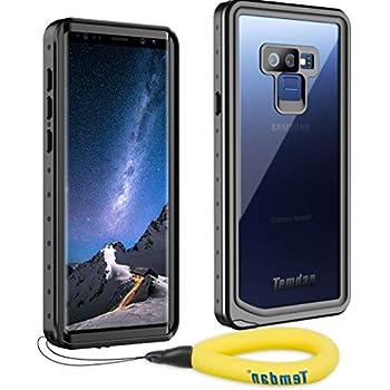 Temdan Samsung Galaxy Note 9 Waterproof Case, Heavy Duty Support Wireless Charging Full Body Shockproof Case Built in Screen Protector Underwater Waterproof Case for Samsung Note 9 (Black)