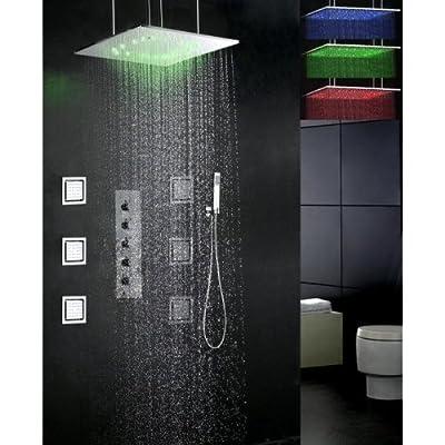 LighgInTheBox Shower Faucet Contemporary LED / Rain Shower / Sidespray / Handshower Included Brass Chrome