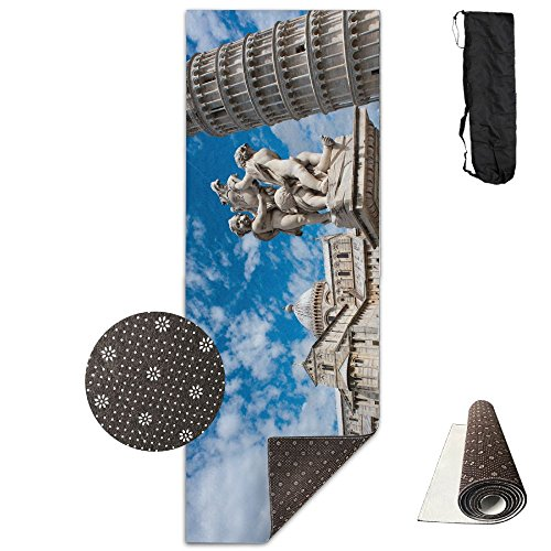Leaning Tower Of Pisa Italy ECO Aqua Power Kinematic Iyengar Kundini Hot Pilates Gymnastics Hatha Yoga Mat Exercise Mat by Matbt
