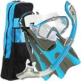 U.S. Divers Adult Starbuck II Purge LX Mask/Paradise Dry LX Snorkel/Hingeflex II Fins/Pro Bag