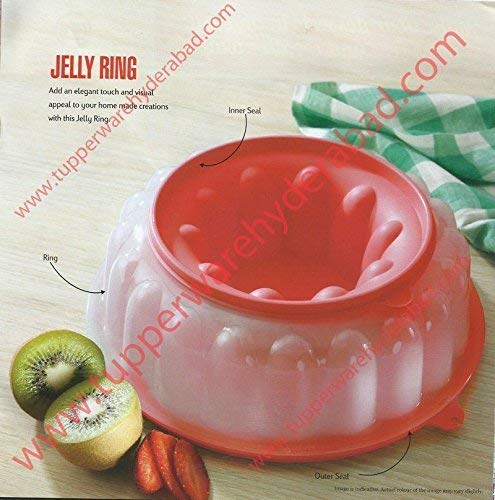 Tupperware 6 Cup Jel-Ring Jello Mold Ice Ring in Mint Green/Red by Tupperware (Image #1)