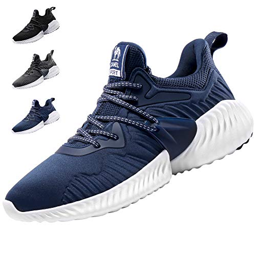 1dd738c71de22 CAMEL CROWN Trail Running Shoes Cushioning Hiking Walking Gym Tennis  Athletic Trail Runner Casual Sneakers for Women/Men Blue 8D(M) US