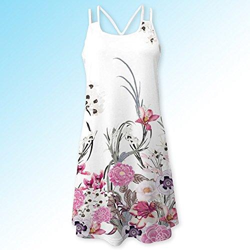 Cortos Vestidos Verano Corto Mujer Casual En Playa 3d Mangas Vestido B Tirantes Niña Sin Blanco Estampado Con Bohe Modaworld Floral Tank De qnaw5Sff