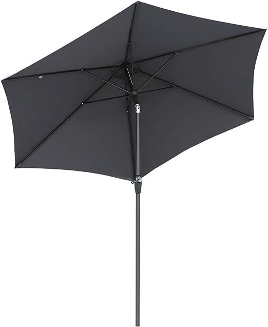 Sekey® sombrilla Parasol para terraza jardín Playa Piscina Patio diámetro 270 cm Protector Solar UV50+ Gris: Amazon.es: Electrónica
