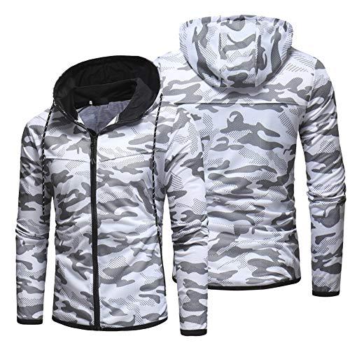 KHXJYC – Sudadera con capucha para hombre, chaqueta con estampado de camuflaje digital, sudadera con capucha con…
