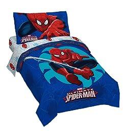 Marvel Spiderman \'Regulator\' Toddler 4 Piece Bed Set