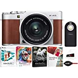 Fujifilm X-A5 Mirrorless Digital Camera (Brown) with XC15-45mm Lens (Silver) and Focus Software Bundle