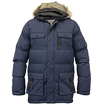 c7b3470311d0 Brave Soul Boys Jacket Coat Kids School Padded Quilted Hooded Fish ...