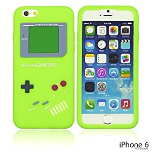 OnlineBestDigital - Gameboy Style Silicone Case for Apple iPhone 6 (4.7 inch)Smartphone - Green