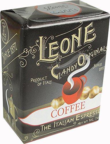 Pastiglie Leone Coffee Espresso Flavor Candy Mints In Retro Box, Three