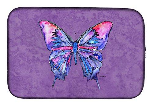 "Caroline's Treasures 8860DDM Butterfly Dish Drying Mat, 14"" x 21"", Multicolor from Caroline's Treasures"