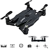 JJRC H49 Mini Foldable RC Quadcopter FPV WiFi Selfie Camera Drone with Video Live Feed Remote Control Helicopter--Altitude Hold Headless Mode One Key Return 3D Flip and roll (black)