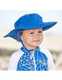Sun Protection Zone Kids UPF 50+ Wide Brim Safari Sun Hat, Blue