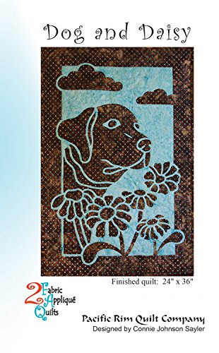 Dog and Daisy 2 Fabric Applique Pacific Rim Quilt - Applique Patterns Dog