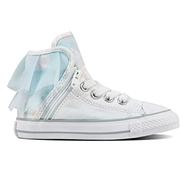 Converse Infant Girls Block Party Hi - White Blue  Amazon.co.uk ... 317b5f3298