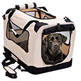 2PET Foldable Dog Crate – Soft, Easy to Fold & Carry Dog Crate for Indoor & Outdoor Use – Comfy Dog Home & Dog Travel Crate – Strong Steel Frame, Washable Fabric Cover – XXLarge, Biscuit Beige Review