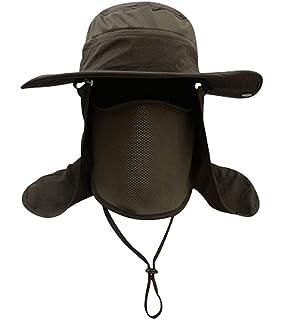 706cc4465dc8e Men Women Outdoor Sport Hat with Wide Brim Sun Protection UPF 50+ Summer  Mesh Cap