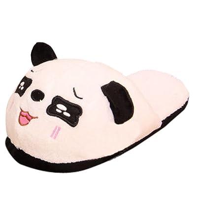 Home Slippers, Womail Panda Plush Anti-slip Indoor Slippers for Women