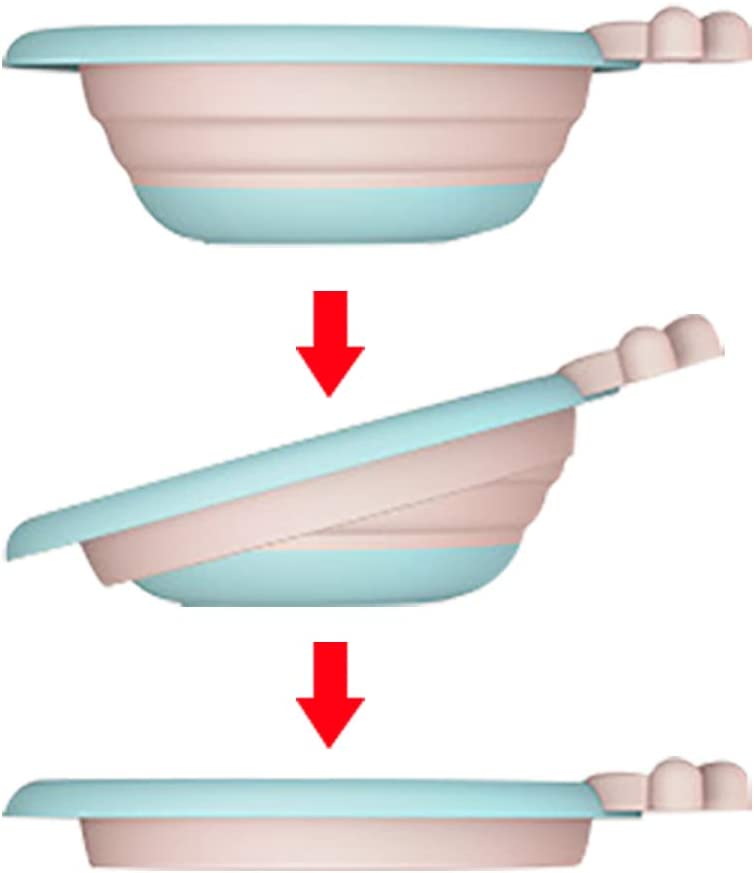 Pink Lavabo para beb/é Lavabo plegable para beb/é Port/átil multiprop/ósito Lavabo De Beb/é Lavabo para el hogar los viajes al aire libre la cocina