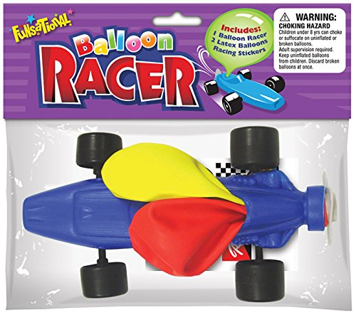 Funsational Balloon Air Racer, Assorted Colors (Best Wheels For Balloon Powered Car)