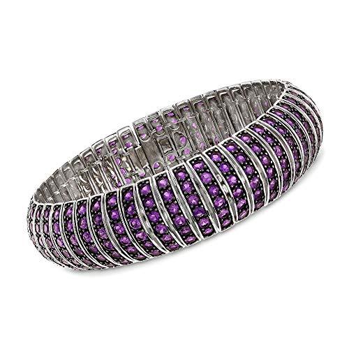 Ross-Simons 17.00 ct. t.w. Amethyst Multi-Row Bracelet in Sterling Silver -